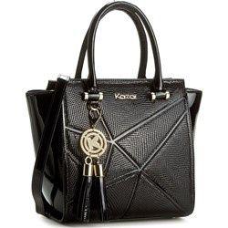 piekna czarna torebka kazar torba lakierowana skorzana skora modna