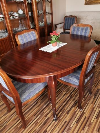 Stół i 6 krzeseł w stylu Ludwik