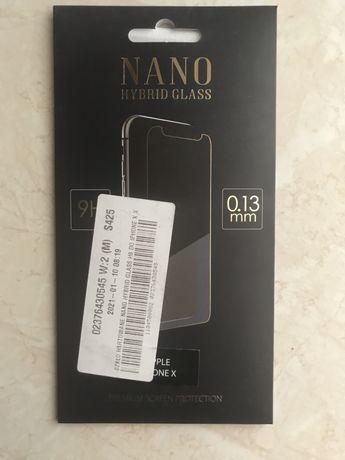 Szkło ochronne 9H IPhone X, nowe