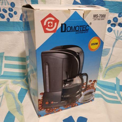 Новая капельная кофеварка кофемашина Domotec MS-7000 850W Germany 1.2л