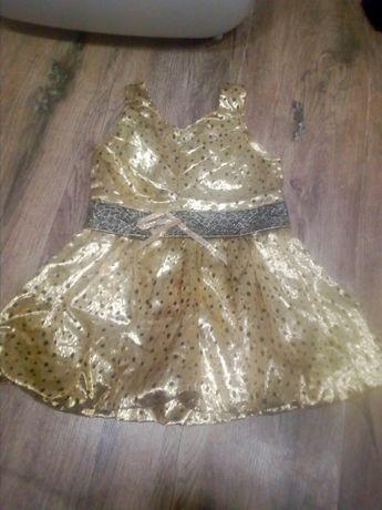 Платье золотое нарядное красовое