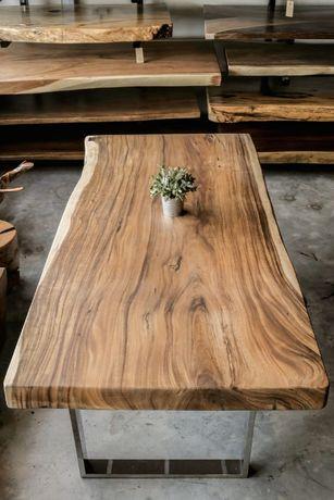 Lite drewniany stóły z drewna egzotycznego - Monolity !
