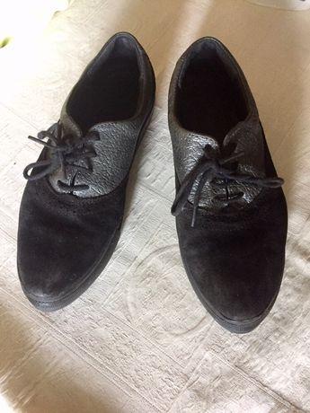 Туфли в школу для девочки. Натуральная кожа , натуральная замш. 35 р.