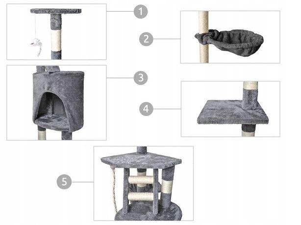 Nowy Drapak dla kota drzewko legowisko Domek 118cm Nowe inne wzory DPD