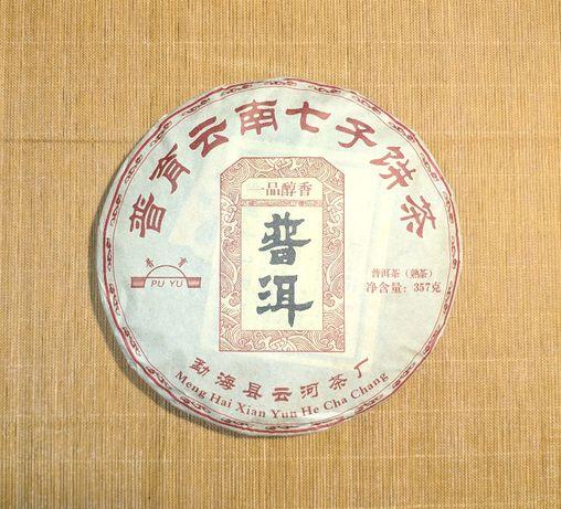 Китайский чай Шу пуэр (пуер)Пу Ю Буланшань гушу .Вес 357г.2018г.