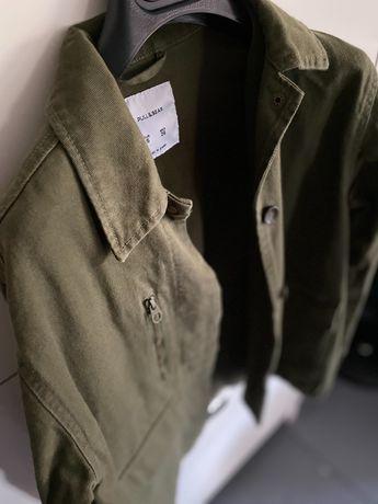 Kurtka wojskowa Katana, moro S 36 - khaki green zieleń pull&bear