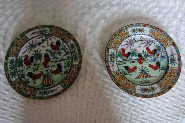 Porcelana Chinesa Antiga Dois Pratos