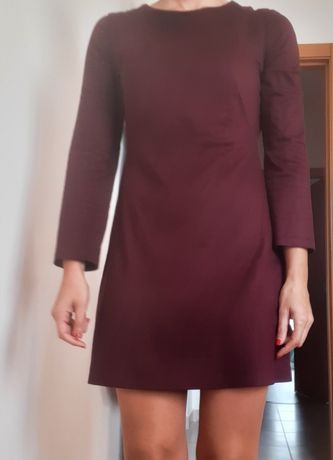 Vestido zara s pele tipo camurça