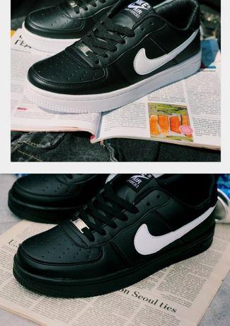 Кроссовки белые/черные/красные Nike Air Force Найк Аир форс !!