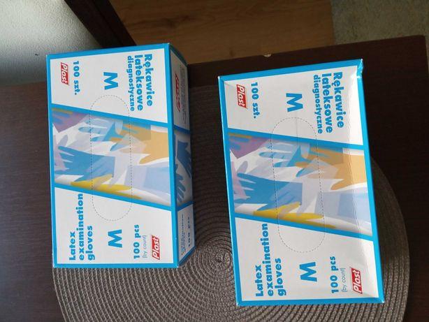 Rękawiczki lateksowe M
