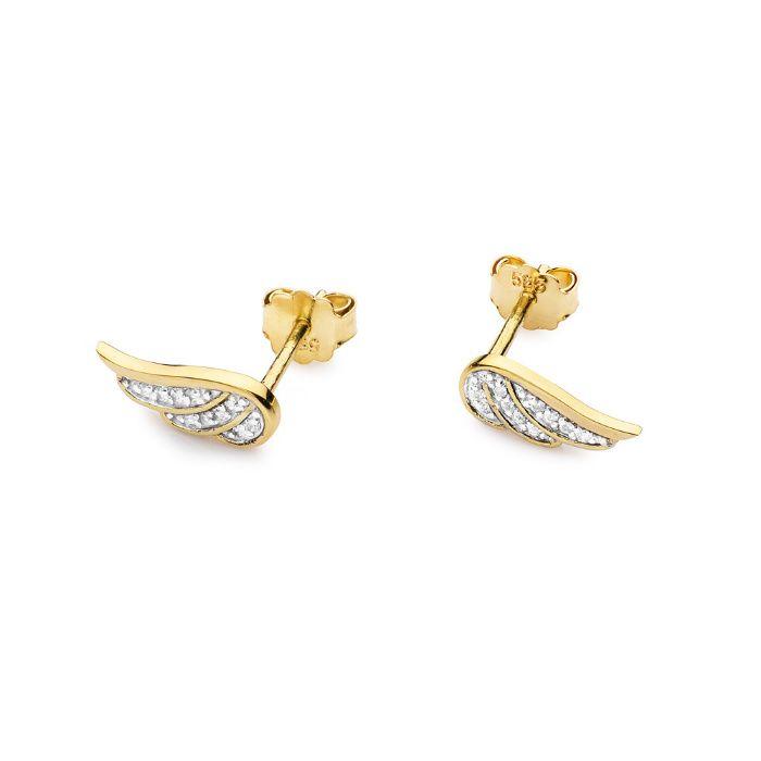 Złote kolczyki z brylantami Kozy - image 1
