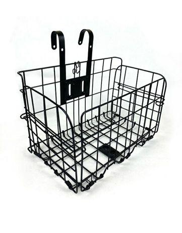 Велосипедная корзина складывающаяся металлическая чёрная