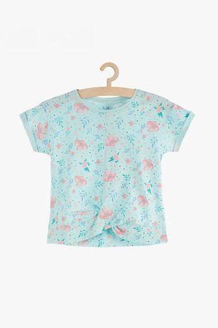 NOWA Bluzka dziewczęca na lato w kwiaty 5 10 15 roz 122 -70%