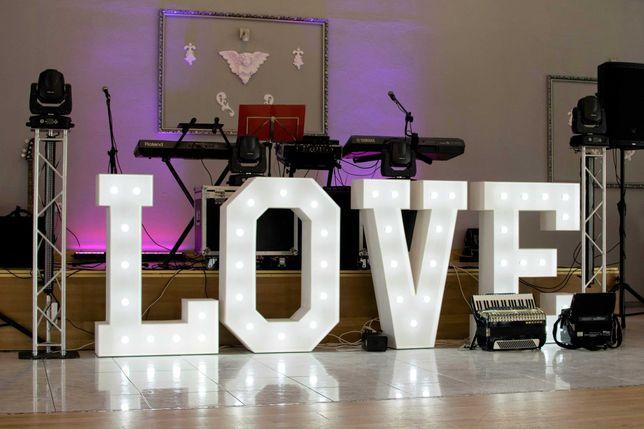 Napis Love !! ślub !! sesja  !! TANIO