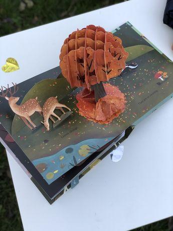 Leaves an autumn pop-up book,3D поп-ап книга