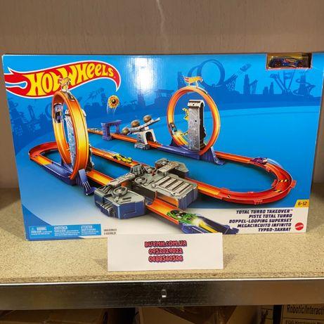 Трек Хот Вилс Двойное ускорение петля Hot Wheels Track Builder BGX89