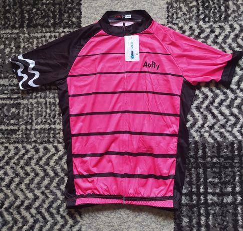strój rowerowy kolarski damski - koszulka rowerowa, spodenki rowerowe
