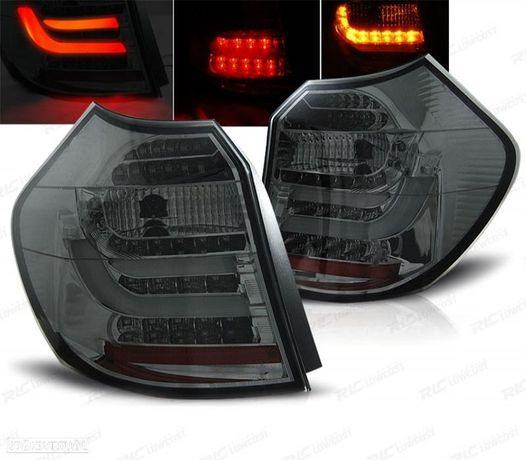 FAROLINS TRASEIROS BMW SÉRIE 1 E87/E81 04-07 LIGHT BAR DESIGN ESCURECIDOS