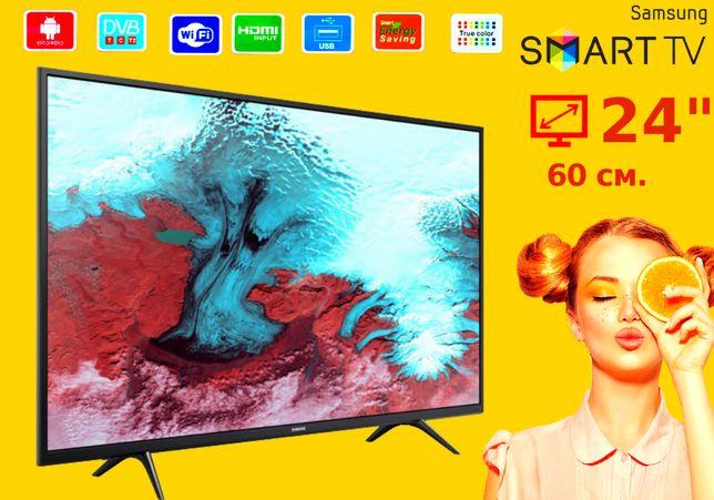 "Телевизор самсунг смарт Samsung 24"" Smart TV, Wi-Fi, HDMI, USB"