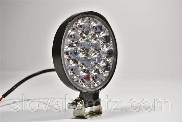 Фара LED Круглая 42W 6000K (14 диодов) (8.5см х 8.5см х 1.5см) Mini