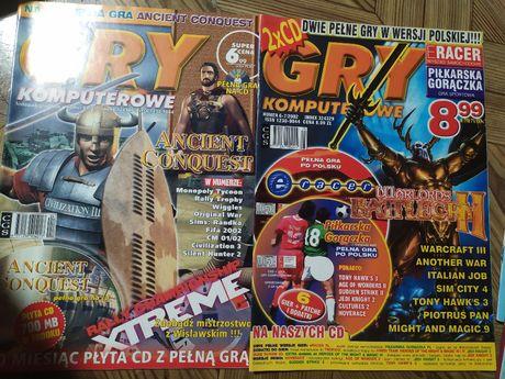 Magazyn Gry komputerowe- numery 04/01 i 6-7/02, płyty CD, cena za 2 nr