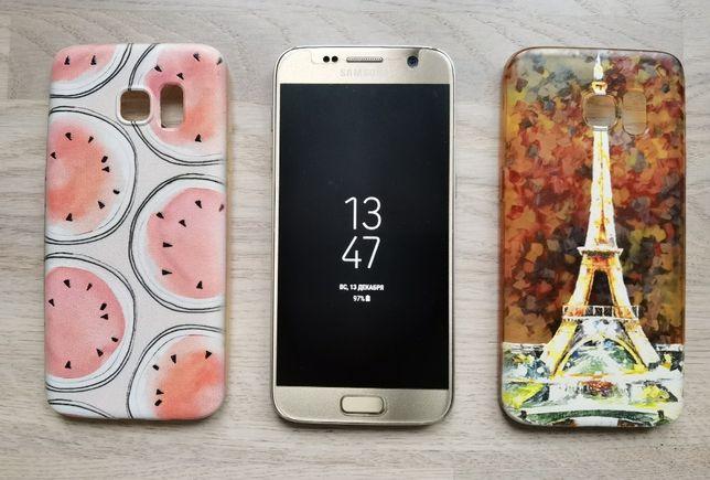 Samsung Galaxy s7 + 2 чехла в подарок