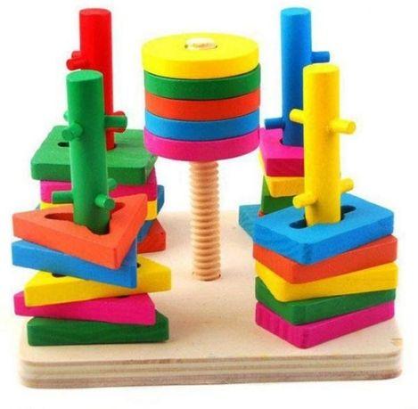 Деревянный сортер,деревянная пирамидка,деревянные игрушки,сортер