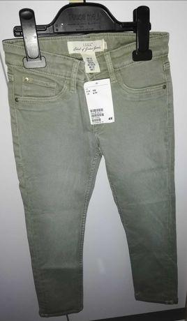Jeansy dziewczęcę khaki H&M