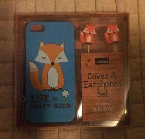 Capa + Fones Novo iPhone 5/5s,5C ou SE