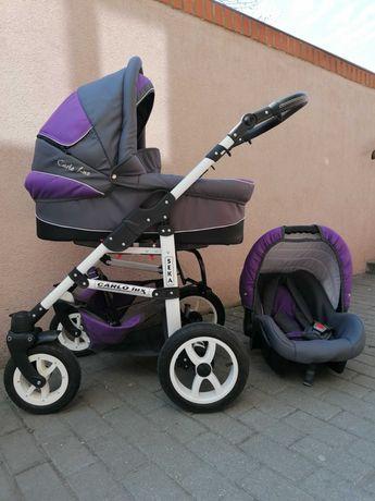 Wózek 3w1 Carlo Lux Alu. Stanbdb
