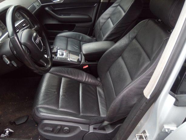 Audi A6 C6 avant - Fotele skóra przód tył Boczki elektryka pamięć EUR.