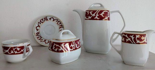 zestaw kawowy ćmielów-porcelana