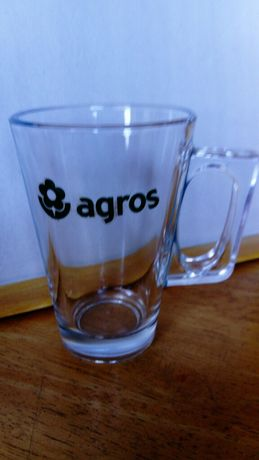 Caneca da Agros em vidro