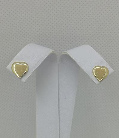 Śliczne złote kolczyki, serca. Nowe. Złoto 14k/585