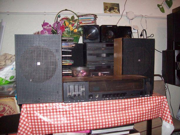 stare radio kolekcjonerskie retro unitra amator 2 z głośnikami sprawne