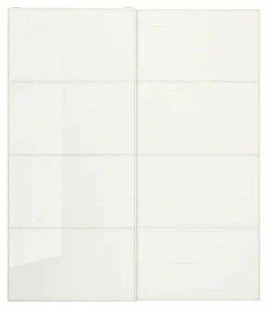 IKEA FARVIK PAX – 4 panele szkło białe 75x236