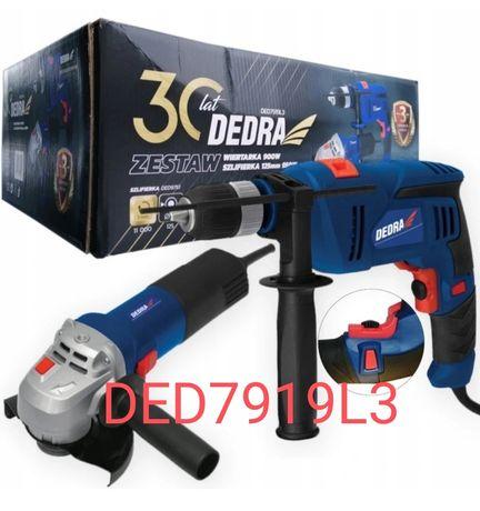 DEDRA DED7919L3 Wiertarka 900W + Szlifierka 125MM 950W