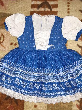 Sukienka folkowa,  niemiecka, r. 80