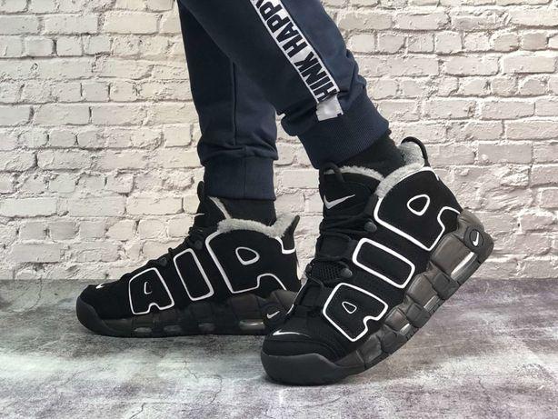 Зимние мужские кроссовки Nike Air More Uptempo Winter | Найк с мехом