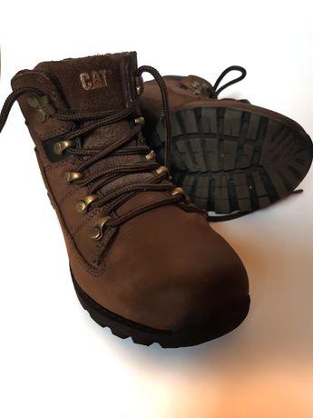 Кожаные деми ботинки Caterpillar, стелька 22 см