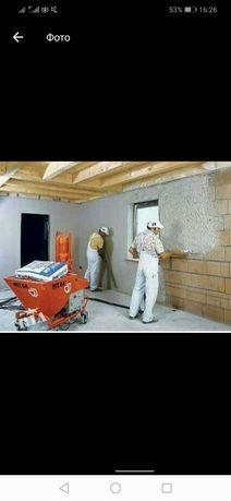 Выполняем машинную штукатурку и много других ремонтных работ