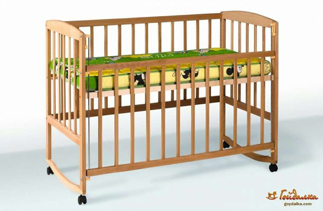 Детская кроватка натуральное дерево бук