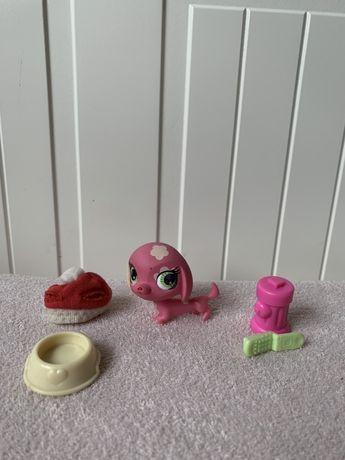 Littlest Pet Shop LPS pies piesek jamnik różowy