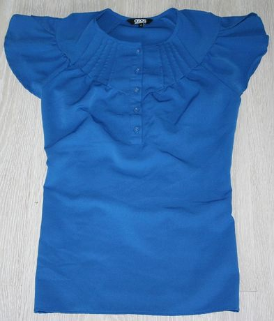 Elegancka bluzka Asos S wizytowa nowa bez metki plisowana!