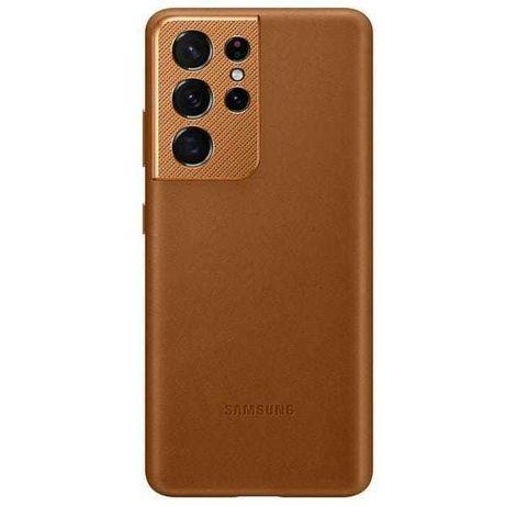 Etui S21 Ultra Samsung skórzane brązowe oryginalne nowe