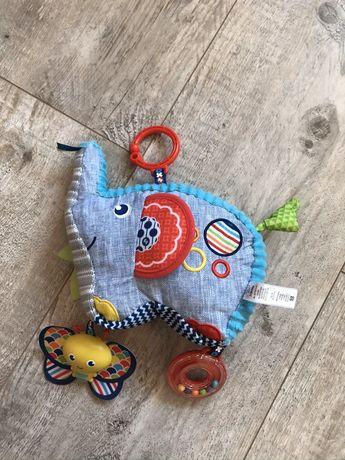 Fisher Price zabawka grzechotka słoń słonik  lusterko