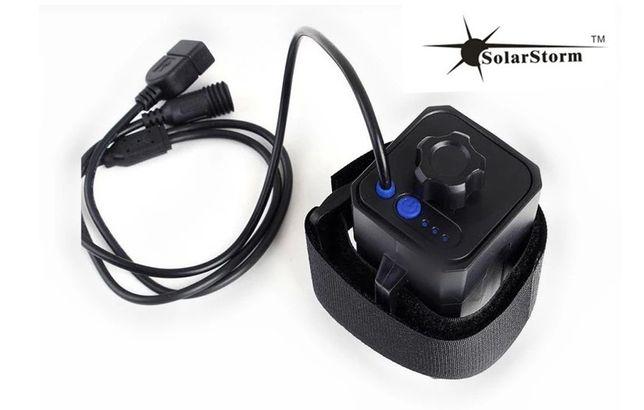 Аккумулятор Solarstorm блок 8.4в/USB 5В для вело фары 4 х 18650