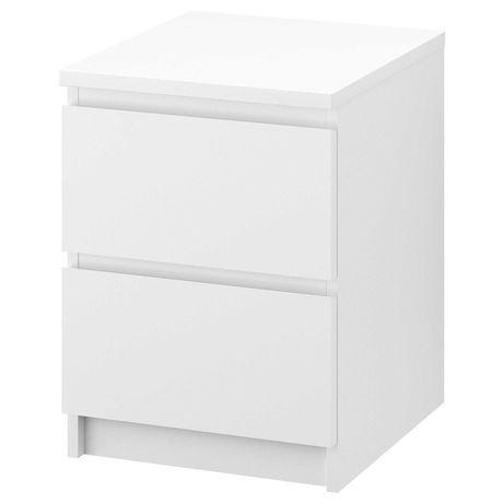 IKEA MALM Komoda, 2 szuflady, biały40x55 cm szafka nocna