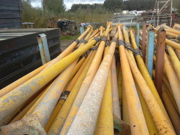 Stemple metalowe regulowane 5m szalunki stropowe sklejka płyta doki