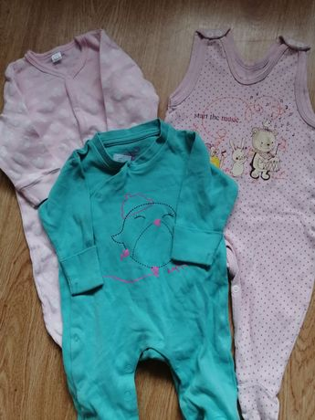 Body, bluzki, pajac, sukienka , rozmiar 68: Zestaw